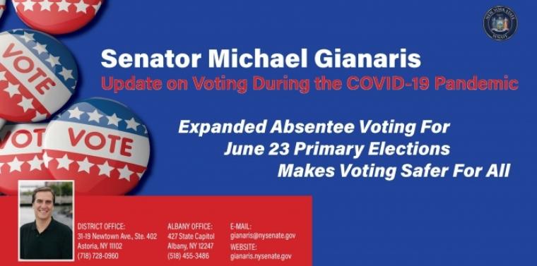 Senator Gianaris' absentee voting informational handout