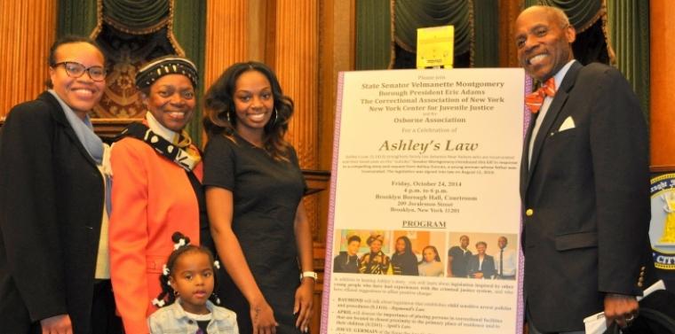 Senator Montgomery Celebrates the Passage of Ashley's Law