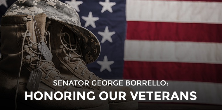 SENATOR GEORGE BORRELLO: Honoring our Veterans