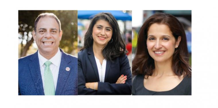 Photos of Costa Constantinides, Jessica Ramos, and Aravella Simotas