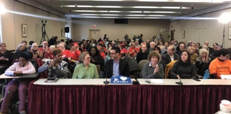 Audience members at Manhattan Budget Forum