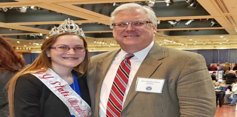 """""""Alyssa will be busy in the year ahead making us proud as a prominent ambassador for our regional and statewide dairy industry,"""" said Senator O'Mara."""