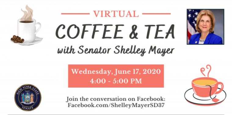 coffee & tea with senator shelley mayer, 6/2020