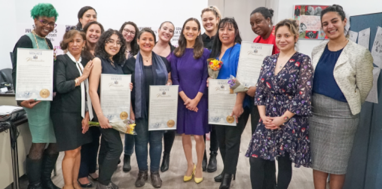 Senator Julia Salazar with the Women of Distinction Honorees