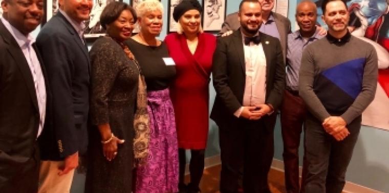Senator Serrano and Majority Leader at Caribbean Cultural Center