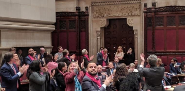 Senators celebrating passage of the RHA