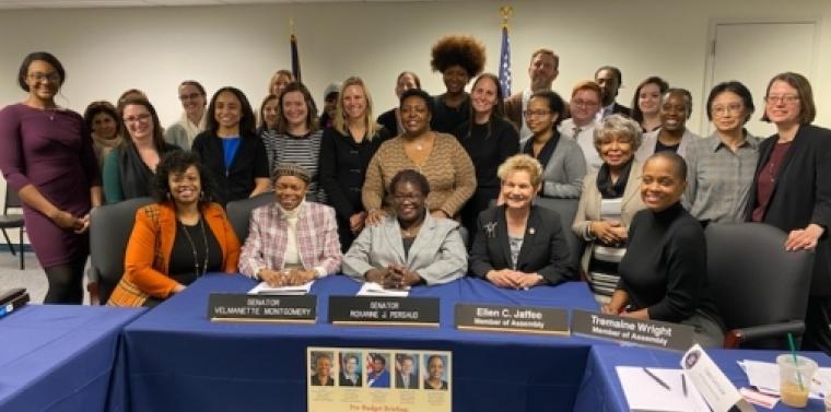 Senator Montgomery and Advocates