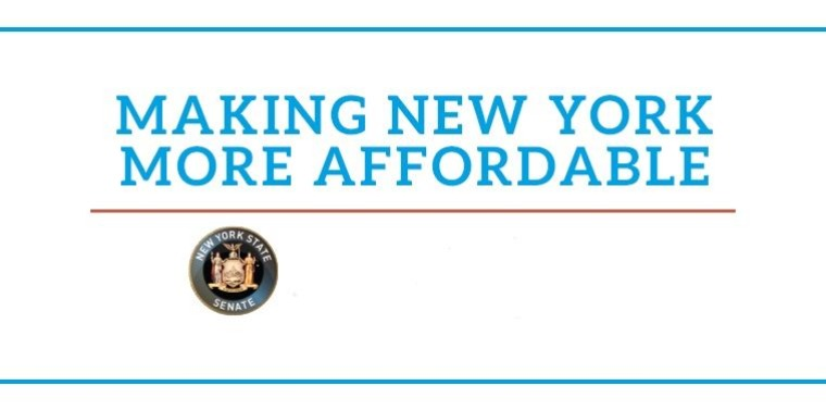 Making New York More Affordable, NYS Senate Logo