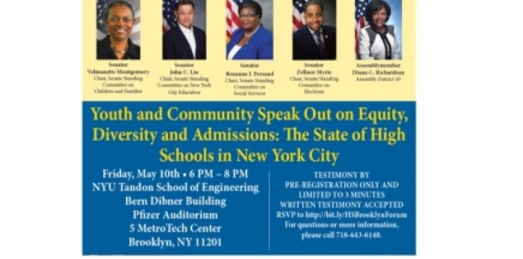 Youth and Community Speak Out on Equity, Diversity and Admissions: The State of High Schools in New York City