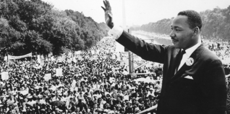 Rev. Dr. Martin Luther King at The March on Washington for Jobs and Freedom, also known as the March on Washington or The Great March on Washington, held in the D.C. the capital city of the country on Wednesday, August 28, 1963