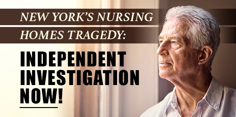 """""""Every step of the way, the Senate Democrat Majority has been willing to give the Cuomo administration every opportunity to keep trying to cover its tracks and rewrite its false story on nursing homes,"""" said Senator O'Mara."""