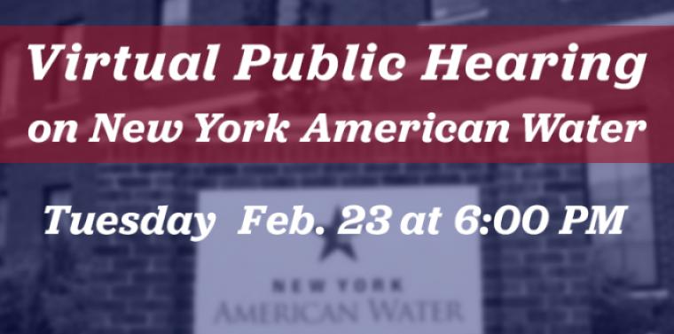 NYAW Public Hearing