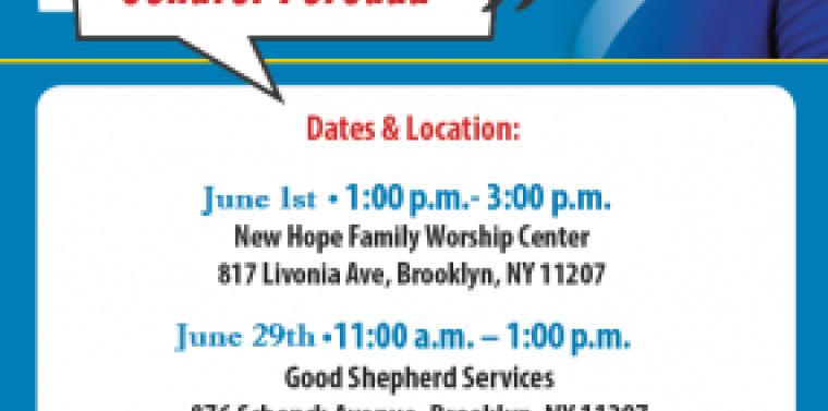 """Senator Persaud's """"Conversations"""" series' first date is June 1 from 1 to 3 p.m. at New Hope Family Worship Center (817 Livonia, Brooklyn, NY 11207). The second date is June 29 from 11:00 a.m. to 1:00 p.m. at Good Shepherd Services (876 Schenck Avenue, Brooklyn, NY 11207). Join the conversation; share your thoughts, ideas, get more information and ask questions about the 2019 budget, community improvements and services that are available to all."""
