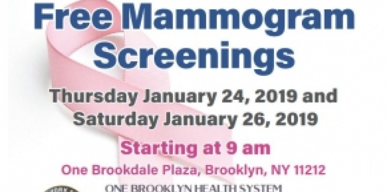 Senator Persaud/Brookdale Hospital Free Mammogram Screenings Flyer