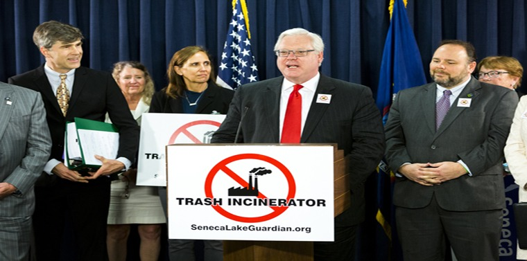 Senator O'Mara joined opponents of the project at an Albany news conference last spring.