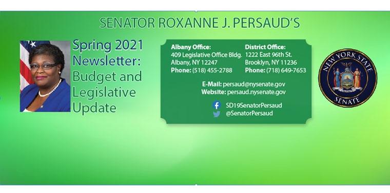 Sen. Persaud's 2021 Spring Newsletter