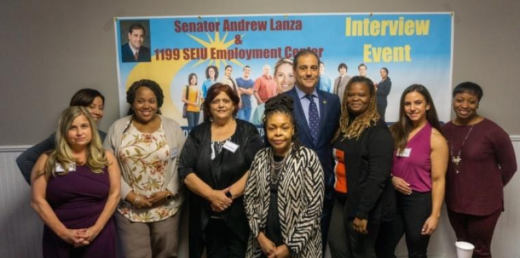 Senator Lanza with 1199SEIU
