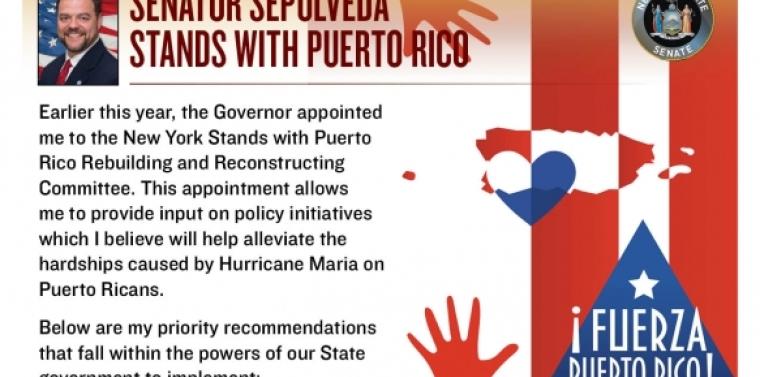 Senator Sepúlveda Stands with Puerto Rico