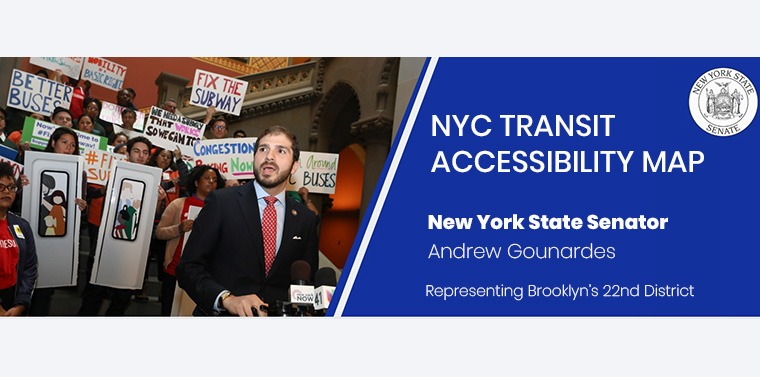 NYC Transit Acessibility map