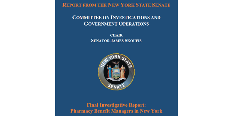 Senate Investigations and Government Operations Committee Releases Full Report on Pharmacy Benefit Managers