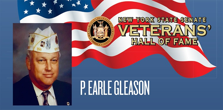 Sergeant P. Earle Gleason has embodied the truest ideals of citizenship, sacrifice and service as a soldier, a veteran, and in dedication to his fellow veterans, his community and his family.