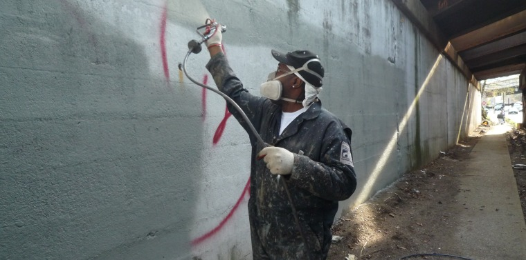 Klein graffiti clean up crew hits bronx and westchester streets