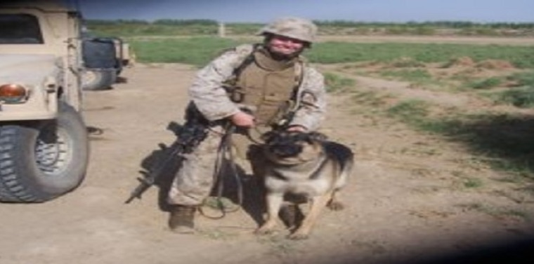 Cpl. Leavey with Rex