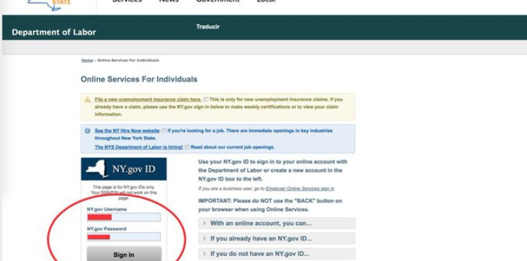 Log in with your credentials