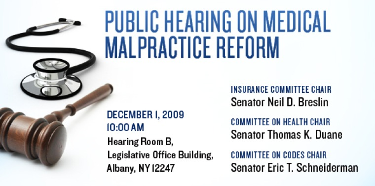 Ny Insurance Codes >> Public Hearing On Medical Malpractice Reform Ny State Senate