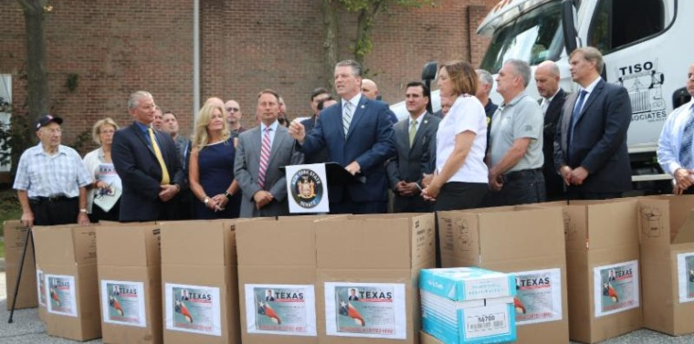 2017 Hurricane Harvey Fill A Truck Senator Terrence Murphy leads a bipartisan coalition in collecting donations for the victims of Hurricane Harvey in Texas.