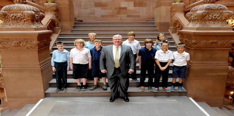 St. Michael's School students visit Albany