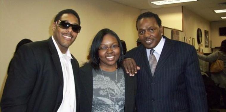 Kelvin Alexander, Karen Ford, and Maurice Roberts (left) of